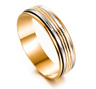 cheap -Men's Women's Band Ring , Gold Gold Plated Circle Fashion Gift Gift Valentine Costume Jewelry