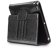 cheap -Case For Apple iPad Air 2 iPad Air Card Holder Shockproof with Stand Full Body Cases Solid Color Hard Genuine Leather for iPad Air 2