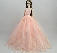 Недорогие -Платья Платья Для Кукла Барби Розовый Платье Для Девичий игрушки куклы
