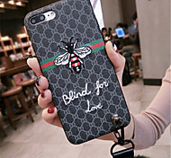 cheap -Case For Apple iPhone X iPhone 7 Plus Pattern Back Cover Word / Phrase Soft TPU for iPhone X iPhone 8 Plus iPhone 8 iPhone 7 Plus iPhone