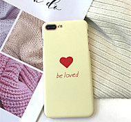 cheap -Case For Apple iPhone X iPhone 7 Plus Frosted Pattern Back Cover Word / Phrase Hard Acrylic for iPhone X iPhone 8 Plus iPhone 8 iPhone 7