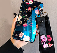 cheap -Case For Apple iPhone X iPhone 7 Plus Pattern Back Cover Flower Soft Silicone for iPhone X iPhone 8 Plus iPhone 8 iPhone 7 Plus iPhone 7