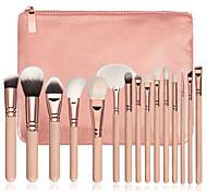 cheap -15 Contour Brush Foundation Brush Powder Brush Fan Brush Concealer Brush Eyeliner Brush Brow Brush Eyeshadow Brush Blush Brush Makeup