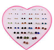 cheap -Women's 36 Pairs Stud Earrings - Fashion Rainbow Geometric Earrings For Daily