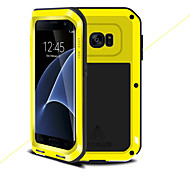 cheap -Case For Samsung Galaxy S7 edge Shockproof Full Body Cases Solid Color Hard Metal for S7 edge