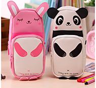 cheap -Pencil Cases Black Pink, Polystyrene Linen / Cotton Blend Organization /