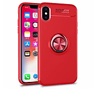 cheap -Case For Apple iPhone X iPhone 8 Ring Holder Back Cover Armor Soft TPU for iPhone X iPhone 8 Plus iPhone 8 iPhone 7 Plus iPhone 7 iPhone