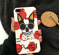 cheap -Case For Apple iPhone X iPhone 7 Plus Pattern Back Cover Cartoon Hard Acrylic for iPhone X iPhone 8 Plus iPhone 8 iPhone 7 Plus iPhone 7