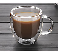 cheap -Drinkware High Boron Glass Glass Coffee Mug Ergonomic Design Heat-Insulated 1pcs