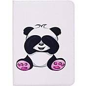 Недорогие -Кейс для Назначение SSamsung Galaxy Tab S2 9.7 Бумажник для карт Кошелек со стендом С узором Авто Режим сна / Пробуждение Чехол Панда