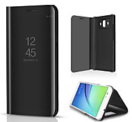 cheap -Case For Huawei Mate 10 Mate 10 lite with Stand Mirror Full Body Cases Solid Colored Hard PU Leather for Mate 10 lite Mate 10 pro Mate 10