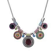 cheap -Women's Statement Necklace  -  Colorful Statement Button Black Rainbow Red 45cm Necklace For Party / Evening Evening Party