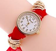 Недорогие -Жен. Кварцевый Часы-подвеска Модные часы Повседневные часы Китайский Повседневные часы Материал Группа На каждый день Мода Черный Красный