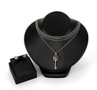 cheap -Women's Cubic Zirconia Zircon Rose Gold Plated Jewelry Set 1 Necklace Earrings - Formal Fashion Jewelry Set Stud Earrings Pendant Necklace
