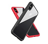 cheap -Case For Apple iPhone X iPhone 8 Shockproof Mirror Translucent Back Cover Solid Colored Soft TPU for iPhone X iPhone 8 Plus iPhone 8