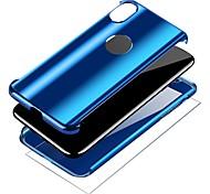 Недорогие -Кейс для Назначение Apple iPhone X iPhone 8 Покрытие Кольца-держатели Чехол Однотонный Твердый ПК для iPhone X iPhone 8 Pluss iPhone 8