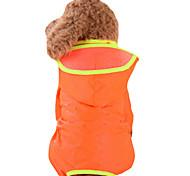 Недорогие -Собака Дождевик Одежда для собак Однотонный Желтый Красный Зеленый Синий Розовый Нейлон Костюм Для домашних животных Муж. Жен.