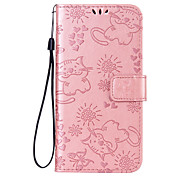 cheap -Case For Motorola MOTO Z2 play MOTO G5 Plus Card Holder Wallet with Stand Flip Pattern Full Body Cases Cat Butterfly Hard PU Leather for