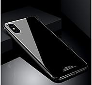 baratos -Capinha Para Apple iPhone X iPhone 8 Antichoque Ultra-Fina Capa traseira Côr Sólida Rígida Vidro Temperado para iPhone X iPhone 8 Plus