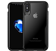 cheap -Case For Apple iPhone X iPhone 8 Shockproof Translucent Back Cover Solid Colored Hard PC for iPhone X iPhone 8 Plus iPhone 8 iPhone 7