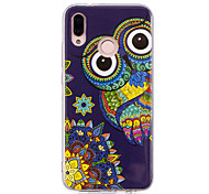 cheap -Case For Huawei P20 lite P20 Pro Glow in the Dark IMD Pattern Back Cover Shine Owl Soft TPU for Huawei P20 lite Huawei P20 Pro Huawei P20