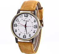cheap -Women's Quartz Fashion Watch Chinese Large Dial PU Band Minimalist Fashion Black White Blue Red Brown Green Yellow