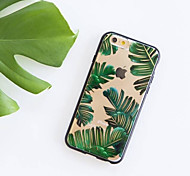 baratos -Capinha Para Apple iPhone 6 iPhone 7 Plus iPhone 7 Ultra-Fina Estampada Capa traseira Árvore Macia TPU para iPhone 7 Plus iPhone 7 iPhone