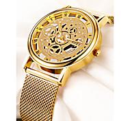 Недорогие -Муж. Наручные часы Китайский Секундомер / С гравировкой / Крупный циферблат сплав Группа Роскошь / минималист Серебристый металл /