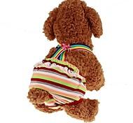 Недорогие -Животные Комбинезоны Одежда для собак В полоску / Принцесса Радужный Ткань для подбивки Костюм Для домашних животных Женский Спорт и