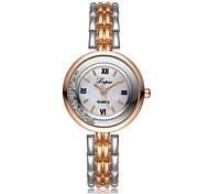 cheap -Women's Bracelet Watch Chinese Chronograph / Imitation Diamond / Casual Watch Alloy Band Luxury / Fashion Silver / Gold