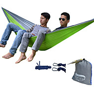 cheap -DesertFox® Camping Hammock Outdoor Wearable, Travel High Density Ripstop for Hiking / Camping - 2 person Dark Blue / Fuchsia / Coffee