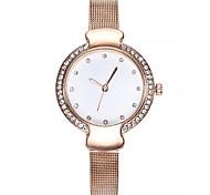 cheap -Women's Bracelet Watch Chinese Chronograph / Imitation Diamond Alloy Band Fashion / Bangle Black / Silver / Rose Gold