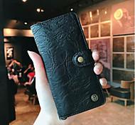 Недорогие -Кейс для Назначение Huawei P20 / P20 Pro Кошелек / Бумажник для карт / Флип Чехол Однотонный Твердый Настоящая кожа для Huawei P20 /