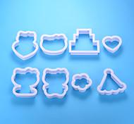 cheap -Bakeware tools Aluminum New Arrival / 3D / DIY Cake / Party / Birthday Cake Molds 8pcs