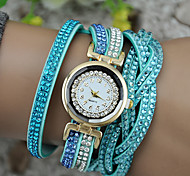 cheap -Women's Bracelet Watch Chinese Casual Watch PU Band Sparkle / Fashion Black / White / Blue