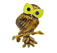 cheap -Brooches - Owl Basic, Fashion Brooch Brown For Daily / Date
