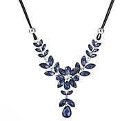 Недорогие -Кристалл / Цирконий Заявление ожерелья  -  В форме листа Мода Серый, Синий 47+5 cm Ожерелье Назначение Повседневные, На выход