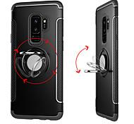 Недорогие -Кейс для Назначение SSamsung Galaxy S9 Plus / S9 Кольца-держатели Кейс на заднюю панель Однотонный Твердый ПК для S9 / S9 Plus / S8 Plus