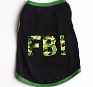 cheap -Dogs / Cats / Pets Vest Dog Clothes Slogan / Cartoon Red / Green Cotton Costume For Pets Male Casual / Daily / Cute Style
