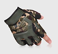 Недорогие -перчатки / Перчатки для скалолазания / Спортивные перчатки Восхождение / Велосипедный спорт / Велоспорт / Полиция / армия Ударопрочный / Регулируемый размер / Дышащий