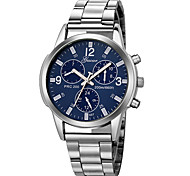 cheap -Men's Sport Watch Chinese Chronograph / Large Dial Stainless Steel Band Luxury / Fashion Silver