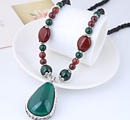cheap -Pendant Necklace - Resin Drop Vintage, European, Fashion Dark Green 78 cm Necklace For Daily