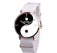 preiswerte -Herrn Quartz Kleideruhr Chinesisch Chronograph PU Band Freizeit Schwarz / Weiß / Orange