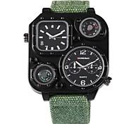 Недорогие -SHI WEI BAO Муж. Наручные часы Китайский Компас / С двумя часовыми поясами / Панк Материал Группа На каждый день Черный / Цвет клевера