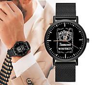 Недорогие -Муж. Спортивные часы Китайский Новый дизайн / Секундомер / Творчество Нержавеющая сталь / Кожа Группа Роскошь / Мода Черный / Серебристый