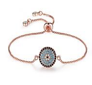 cheap -Women's Cubic Zirconia Chain Bracelet - Sun Classic, Vintage, Fashion Bracelet Rose Gold For Party / Gift