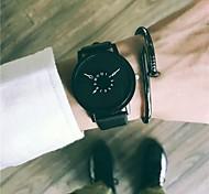 Недорогие -Муж. Нарядные часы / Наручные часы Китайский Новый дизайн / Cool Кожа Группа Винтаж / На каждый день Черный / Белый