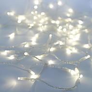 billige LED-kædelys-10 m Lysslynger 100 lysdioder Dyp Led Hvid Fest / Dekorativ / Koblingsbar 100-240 V 1pc