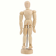 """cheap Toys & Hobbies-Wooden 14-Joint Moveable Manikin Model with Display Base (5.5"""")"""
