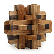 cheap -Magic Cube Wooden Puzzle IQ Brain Teaser Professional Level Speed Wooden 12pcs Classic & Timeless Boys' Gift